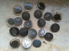 Antique Vintage lot 20 metal  buttons