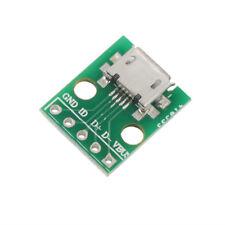 5PCS Female MICRO USB To Dip 5-Pin board Type B Plug Adapter Plate Weld Head