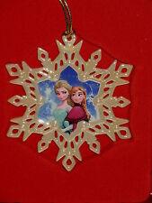 Lenox Disney Showcase Frozen Anna Elsa Snowflake Ornament New $40 Retail
