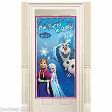 Disney Frozen Door Poster Boy Girl Party Decoration Birthday Supplies Snow Queen