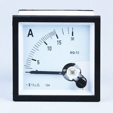 1PC SQ-72 Class 1.5 AC 15A Square Analog Panel AMP Current Meter Ammeter Gauge