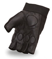 WEIGHT LIFTING GEL PADDED PALM LEATHER GLOVES FITNESS TRAINING BODY BUILDING GYM