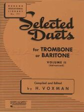 Selected Duets for Trombone or Baritone Vol 2 Rubank Sheet Music Book Advanced