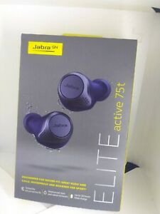 Jabra Elite Active 75t True Wireless In-Ear Headphones - Navy Blue.New Sealed