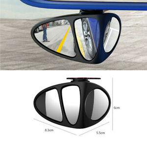 1Pcs Adjustable Blind Spot Wide Angle Rear View Mirror Fit For Car Main Driving