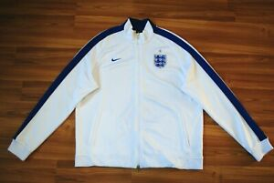 SIZE XXL NIKE ENGLAND SOCCER FOOTBALL NATIONAL TEAM N98 RARE TRACK JACKET WHITE