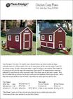 4' x 6' Chicken Coop Plans, Gable Roof Style, Material List Included #90406G