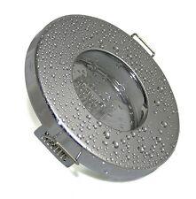 Bad Einbaustrahler Chrom IP65 + 12Volt - 230Volt Fassung für 50mm Leuchtmittel