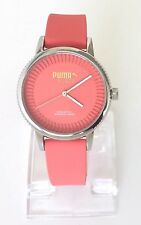 Puma Damen Uhr Suede rosa silber Silikon PU104252003