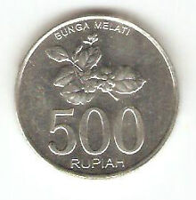 Offer>old Indonesia  500 rupees Coin bunga Melati  very nice!