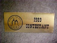 B12 1989 Hsra Rodeo Association Brass Plaque High Schoo