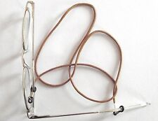 Cordon pour lunettes  marron * 67 cm * Ski  Lecture * Attache Accroche à collier
