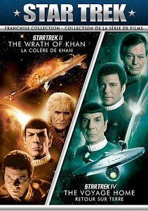 Star Trek II/Star Trek IV (DVD, 2011, Canadian French)
