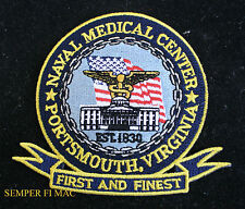 MEDICAL CENTER PORTSMOUTH CORPSMAN HAT PATCH US NAVY MARINES PIN UP DOC FMF USS