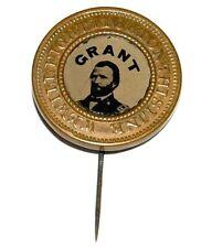 1872 ULYSSES S. GRANT FERROTYPE stickpin pin pinback badge union army general