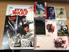 Star Wars The Last Jedi Master Set 162 Cards - Base & 7 Inserts Box Wrappers