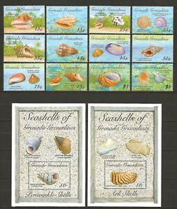 Grenada Grenad. 1993 Fauna Wildlife Marinelife Fisch Fish Shell set + 2 SS MNH