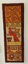 VTG Wool Tapestry MCM Hooked Rug Wall Hanging Fiber Art