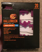 Halloween Indoor Light Set Mini Lights LED Small Purple Bat 20ct Lights