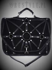 Restyle Luxury Black Harness Messenger Shoulder Bag Handbag for Punk Goth Women