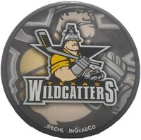 TEXAS WILDCATTERS ECHL OFFICIAL HOCKEY PUCK INGLASCO MFG. MADE IN SLOVAKIA 🇸🇰