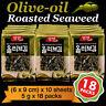 Korean Food Seaweed Snack Olive-oil Roasted Seasoned Laver Nori Gim/Kim 18 Packs
