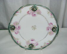 Vintage China Decorative Plate Roses De Riveres Artsit Signed Bavaria