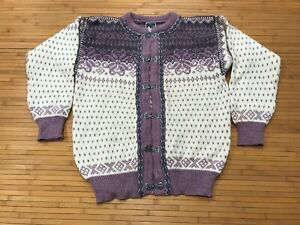WOMENS LARGE - Vtg Dale Of Norway Clasp Wool Sweater