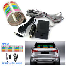 12V Car Music Rhythm Sticker LED Flash Light Sound Activated Equalizer Universal
