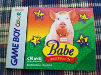 Babe and Friends - Authentic - Nintendo Game Boy Color - Manual Only!