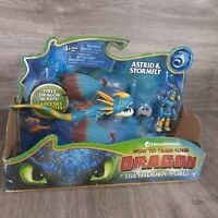 How to train your Dragon The Hidden World Astrid & Stormfly dragon blast toy