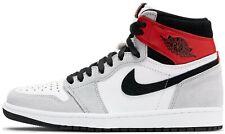 Air Jordan 1 Light Smoke Grey Retro High OG Gray Red 555088-126 & 575441-126