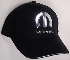 Hat Cap Mopar Liquid Metal Black Dodge Chrysler Plymouth Jeep RK