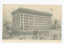 Southland Hotel DALLAS TX Rare Antique Charcoal Drawing Weichsel Albertype 1910s