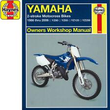 [2662] Yamaha YZ80 YZ85 YZ125 YZ250 Motocross 1986-2006s Haynes Workshop Manual