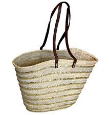 LADYS SHOPPING BAG SEQUIN STRIPED DETAIL HANDMADE SPANISH BEACH SHOPPING BAG