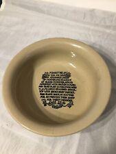 Vintage Moira Stoneware Dish FIDGET PIE  recipe Damaged