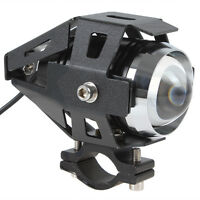 125W CREE U5 LED Motorcycle Headlight Driving Fog Light Bulb Laser Light 3000LM
