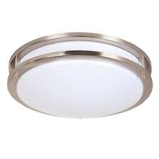"Maxxima 14"" Satin Nickel LED Ceiling Mount Fixture Light Warm White, 1650 Lumens"