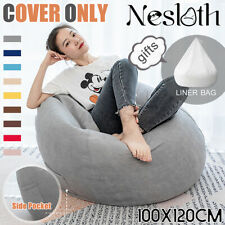 Large Bean Bag Chair Sofa Cover Indoor Gamer Gaming Seat BeanBag