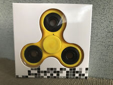 Brand New In Packet Yellow Hand Tri Fidget Spinner Focus Toy Australian Stock