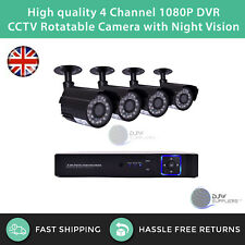 High quality 4 Channel 1080P DVR CCTV Rotatable Camera with Night Vision
