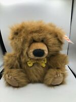 Vintage 1986 R Dakin Fun Farm Brown Teddy Bear Plush Stuffed Toy Animal Doll