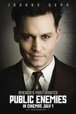 PUBLIC ENEMIES Movie POSTER 27x40 UK Johnny Depp Christian Bale Billy Crudup