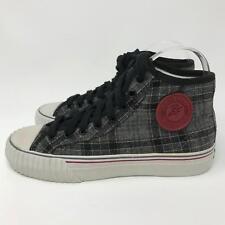 PF Flyers Sneakers Center Hi Reis PM11OH4D Grey Black Plaid Womens Shoes Size: 6