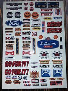 Sponsor Logos Full Set 1 Precut 1/10 Custom Made RC Body Shell Stickers Decals