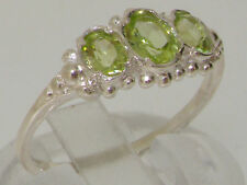 Peridot Natural Oval Sterling Silver Fine Gemstone Rings