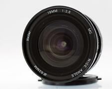 CANON FD fit. 19mm f3.8 MC wide angle by Vivitar in very good to fine  condition