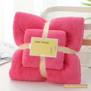 Coral Fleece Absorbent Hair Swimming Face Hand Bath Towel Sets Microfibre Towels