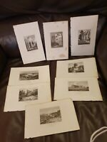 Antique 8 X Prints Of Places In Norfolk By J Cotman - Holt Heath, wolterton hall